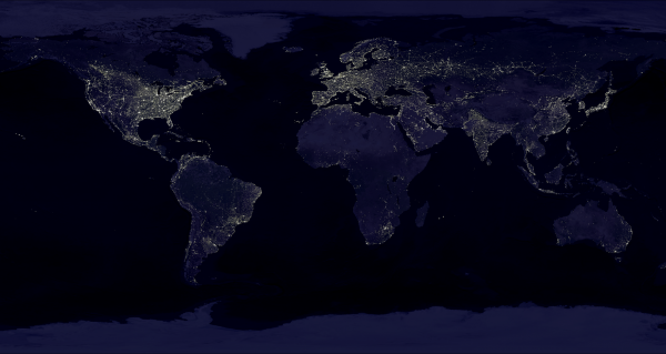 Erde bei Nacht;